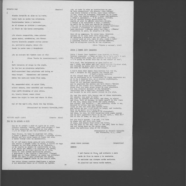 Antologia Oral Poesia Hispanoamericana Del Siglo Xx