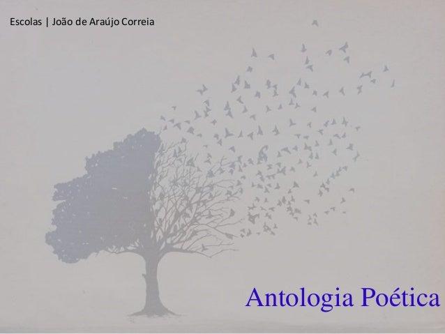 Antologia Poética Escolas | João de Araújo Correia