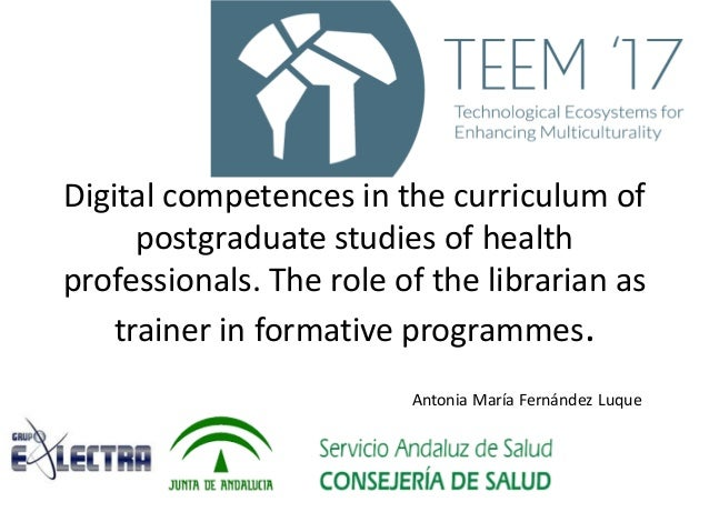 digital competences in the curriculum of postgraduate