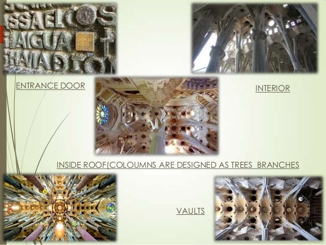 ENTRANCE DOOR  INTERIOR  INSIDE ROOF(COLOUMNS ARE DESIGNED AS TREES BRANCHES  VAULTS