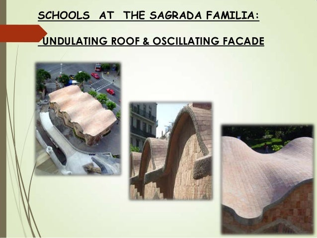 SCHOOLS AT THE SAGRADA FAMILIA: UNDULATING ROOF & OSCILLATING FACADE