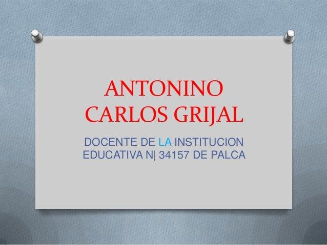 ANTONINO CARLOS GRIJAL DOCENTE DE LA INSTITUCION EDUCATIVA N| 34157 DE PALCA