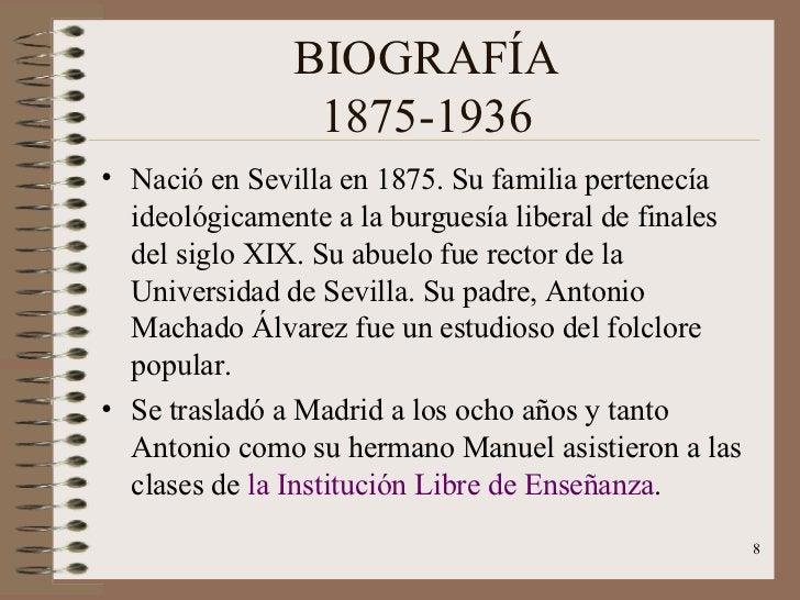BIOGRAFÍA 1875-1936 <ul><li>Nació en Sevilla en 1875. Su familia pertenecía  ideológicamente a la burguesía liberal de fin...