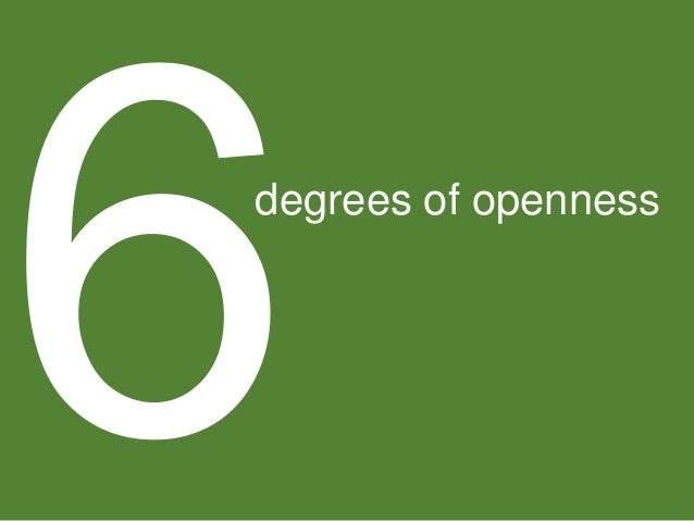 degrees of openness