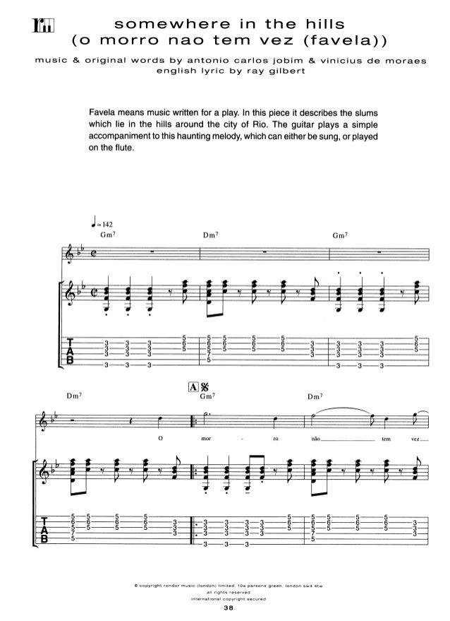 Antonio Carlos Jobim For Guitar Tab Inclords Melody Line Lyric