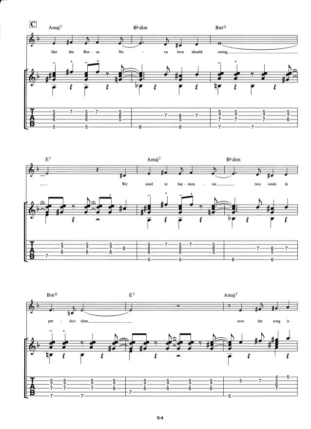 Antonio Carlos Jobim For Guitar Tab Inclords Melody Line Lyric