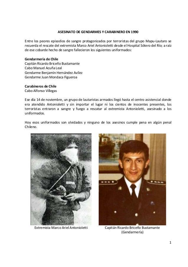Rescate de peligroso extremista Chileno