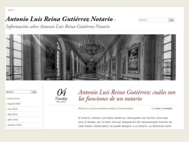 Antonio Luís Reina Gutiérrez Notario ~  E,   Í ¡gfb rrzzzzriárz _cobre Antonio Lzuís' Rain/ z Gutiérrez IV otario  na 23.3...