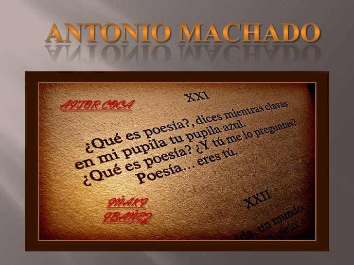 Poesias De Antonio Machado De Amor