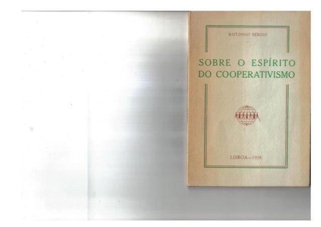 SOBRE O ESPÍRITO DO COOPERATIVISMO, de António Sérgio (1958)
