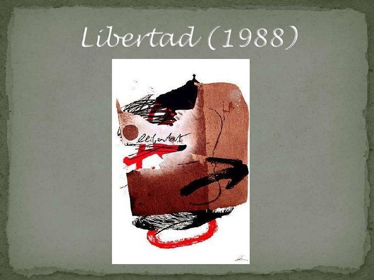 Resultat d'imatges de libertad tapies