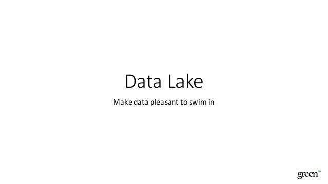 Data Lake Make data pleasant to swim in