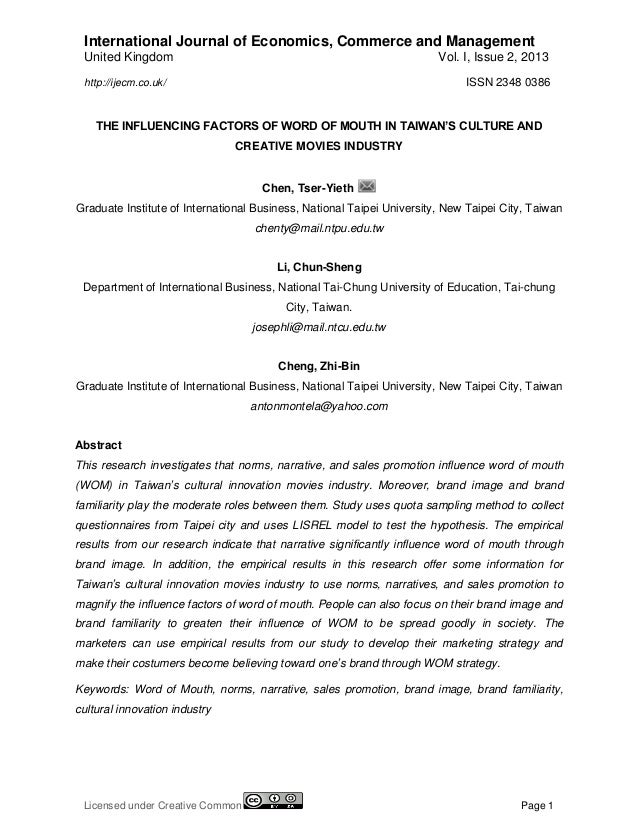 International Journal of Economics, Commerce and Management United Kingdom  Vol. I, Issue 2, 2013 ISSN 2348 0386  http://i...