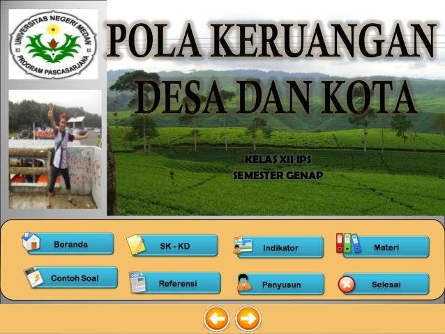 Pola Keruangan Desa Dan Kota