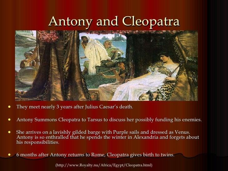When did cleopatra meet mark antony