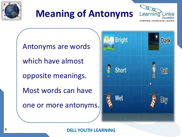 Your Words Mean Nothing When Your Actions Are Opposite The: Antonyms