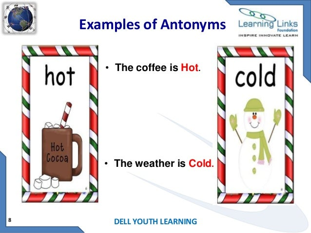 Worksheets Examples Of Antonyms antonyms examples