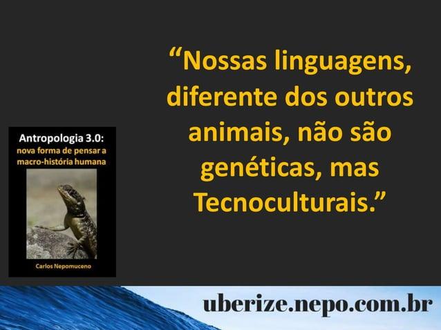 """""""Nossas linguagens, diferente dos outros animais, não são genéticas, mas Tecnoculturais."""""""