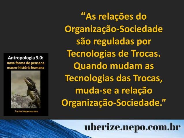 """""""As relações do Organização-Sociedade são reguladas por Tecnologias de Trocas. Quando mudam as Tecnologias das Trocas, mud..."""