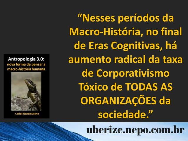 """""""Nesses períodos da Macro-História, no final de Eras Cognitivas, há aumento radical da taxa de Corporativismo Tóxico de TO..."""