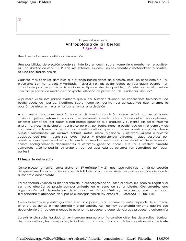 Antropología - E Morín                                                                          Página 1 de 12            ...