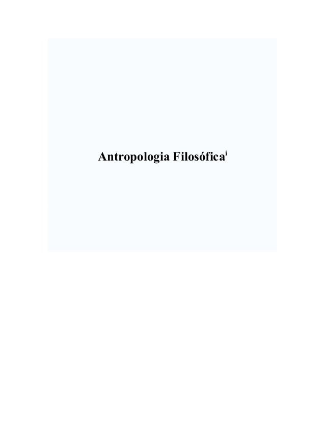 Antropologia Filosóficai