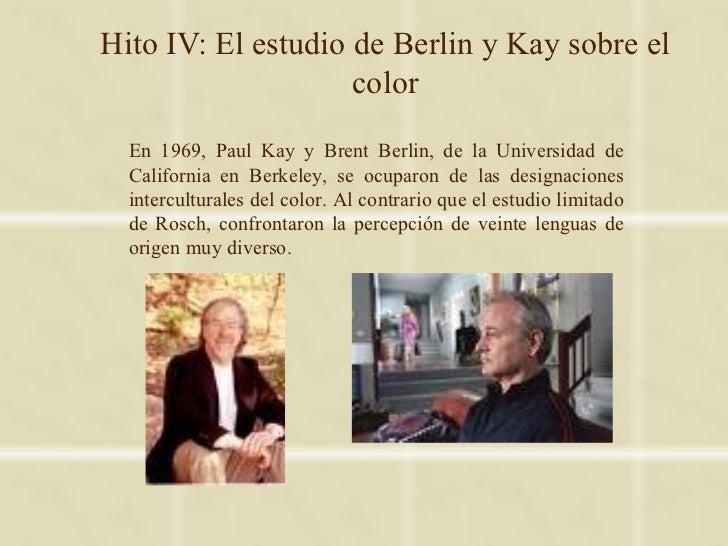Hito IV: El estudio de Berlin y Kay sobre el                    color  En 1969, Paul Kay y Brent Berlin, de la Universidad...