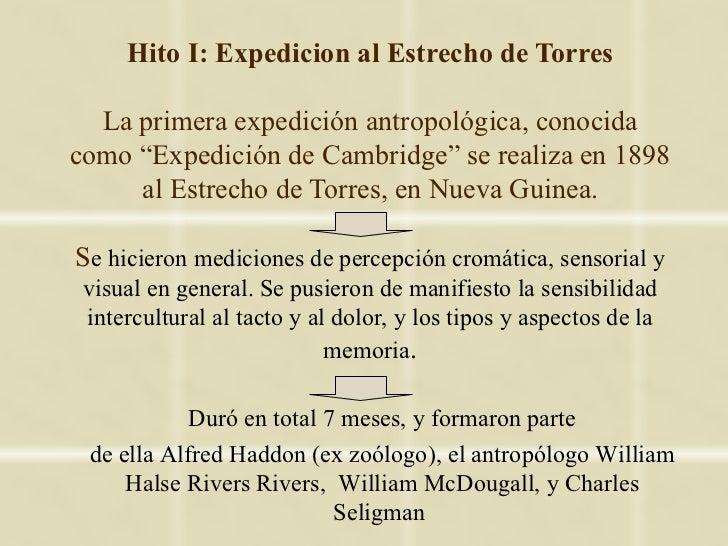 """Hito I: Expedicion al Estrecho de Torres  La primera expedición antropológica, conocidacomo """"Expedición de Cambridge"""" se r..."""