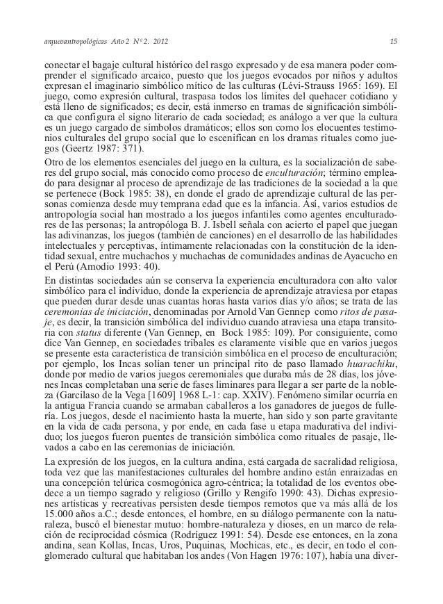 arqueoantropológicas Año 2 Nº 2. 2012 conectar el bagaje cultural histórico del rasgo expresado y de esa manera poder com-...