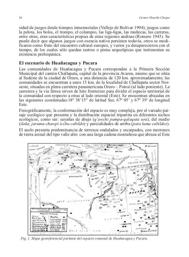 Genaro Huarita Choque sidad de juegos desde tiempos inmemoriales (Vallejo de Bolívar 1994); juegos como la pelota, los bol...