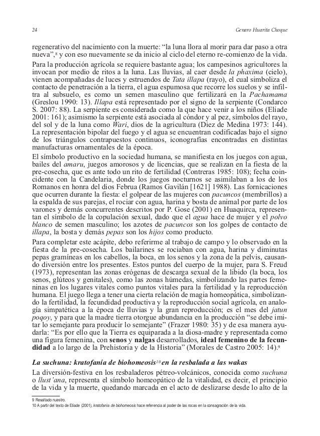 """Genaro Huarita Choque regenerativo del nacimiento con la muerte: """"la luna llora al morir para dar paso a otra nueva"""",8 y c..."""