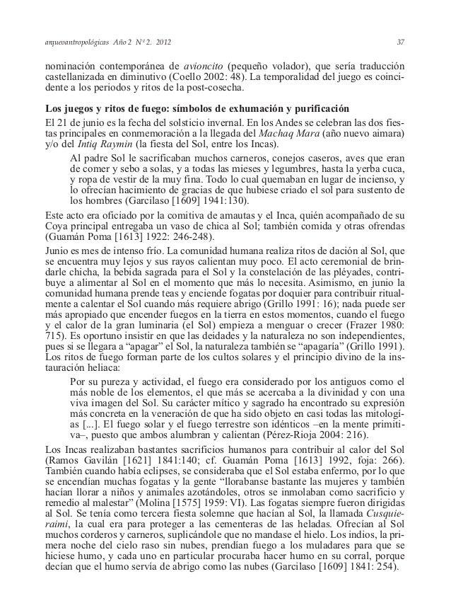 arqueoantropológicas Año 2 Nº 2. 2012 nominación contemporánea de avioncito (pequeño volador), que sería traducción castel...