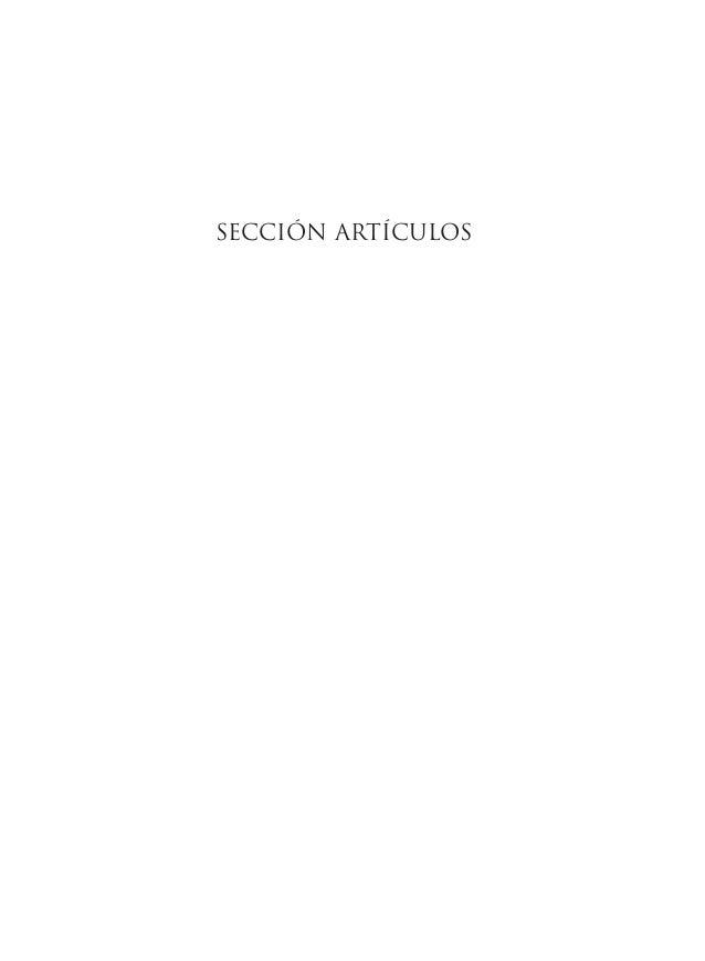 SECCIÓN ARTÍCULOS