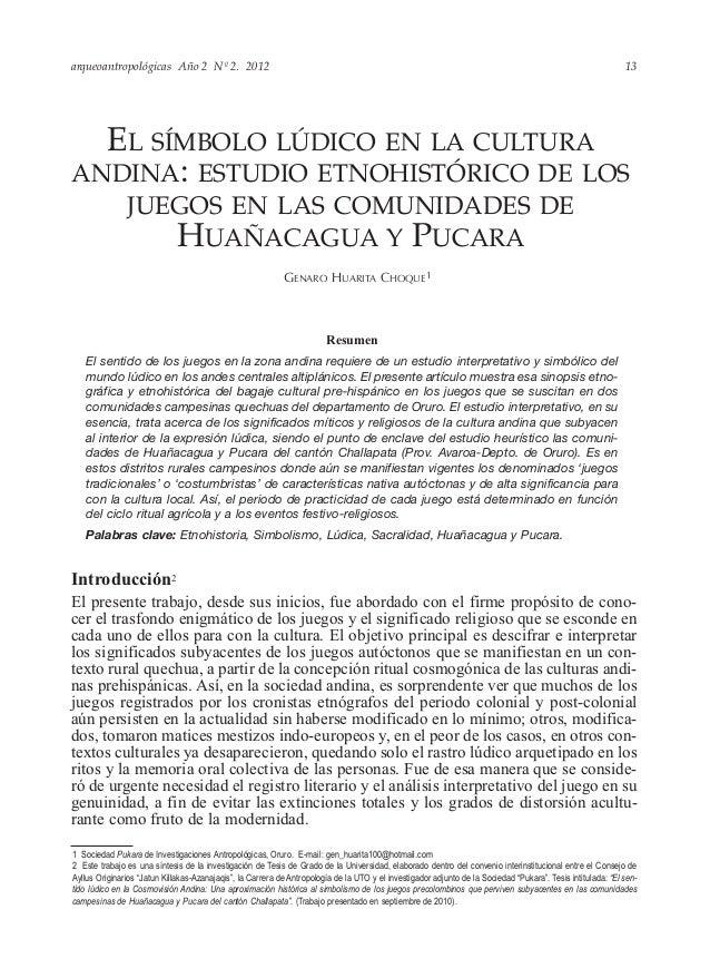 arqueoantropológicas Año 2 Nº 2. 2012 Introducción2 El presente trabajo, desde sus inicios, fue abordado con el firme prop...