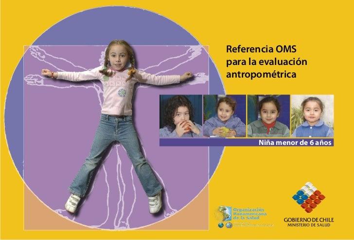 Referencia OMSpara la evaluaciónantropométrica       Niña menor de 6 años                Niño menor de 6 años
