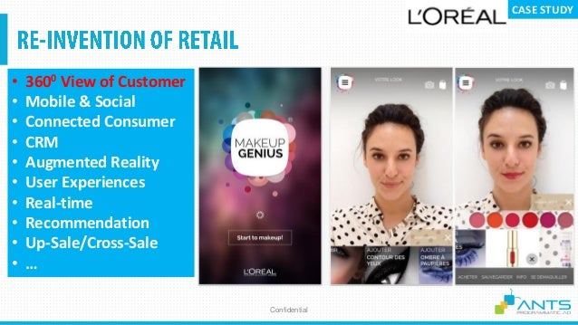 Confidential • 3600 View of Customer • Mobile & Social • Connected Consumer • CRM • Augmented Reality • User Experiences •...