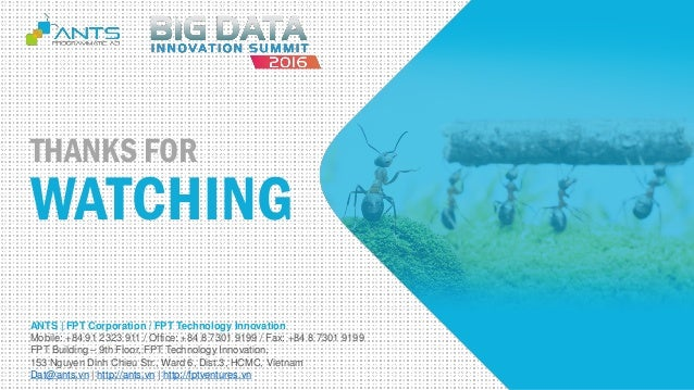 ANTS - 360 view of your customer - bigdata innovation summit 2016