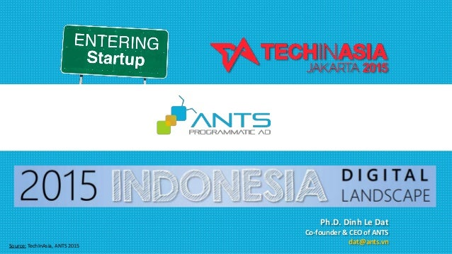 Source: TechInAsia, ANTS 2015 Ph.D. Dinh Le Dat Co-founder & CEO of ANTS dat@ants.vn