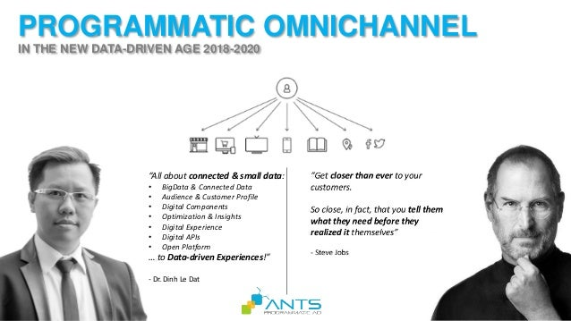 """PROGRAMMATIC OMNICHANNEL IN THE NEW DATA-DRIVEN AGE 2018-2020 """"All about connected & small data: • BigData & Connected Dat..."""