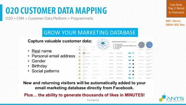 O2O CUSTOMER DATA MAPPING O2O + CRM + Customer Data Platform + Programmatic Confidential O2O-1: SCAN QR CODE TO GET SURPRI...