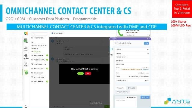 OMNICHANNEL CONTACT CENTER & CS O2O + CRM + Customer Data Platform + Programmatic Confidential 100+ Stores 100M USD Rev. C...