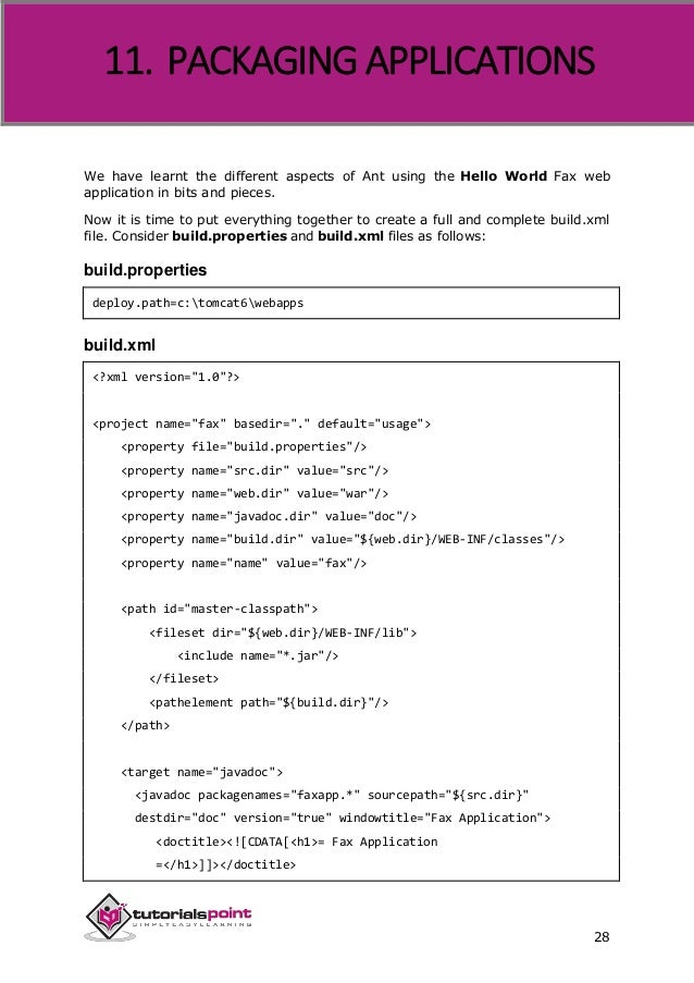 how to create build xml for ant