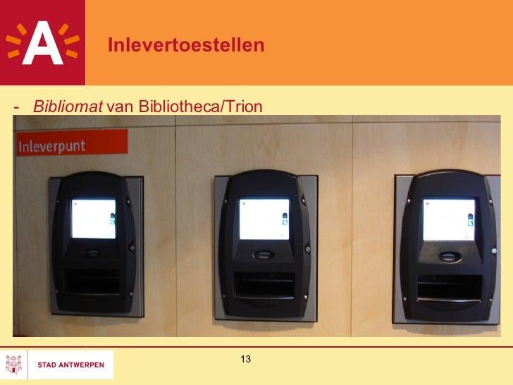 Rfid infoavond zelfredzaamheid en rfid in de openbare bibliotheek an - Geintegreerde bibliotheek ...