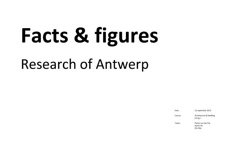 Antwerp Facts & Figures Research Booklet