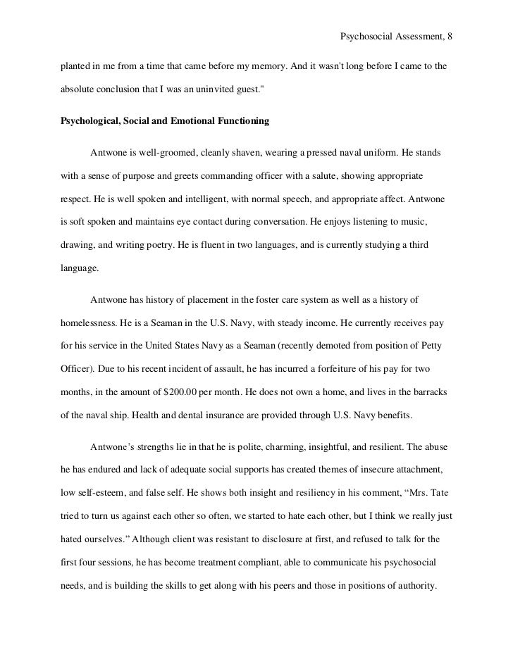 social work psychosocial assessment example Psychosocial Assessment Template - Design Templates
