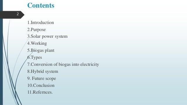 SOLAR-BIOGAS HYBRID POWER GENERATION SYSTEM Slide 2
