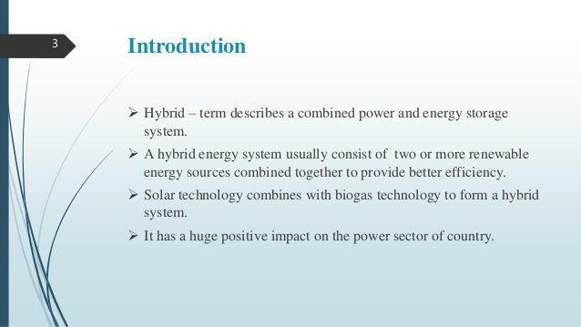SOLAR-BIOGAS HYBRID POWER GENERATION SYSTEM Slide 3