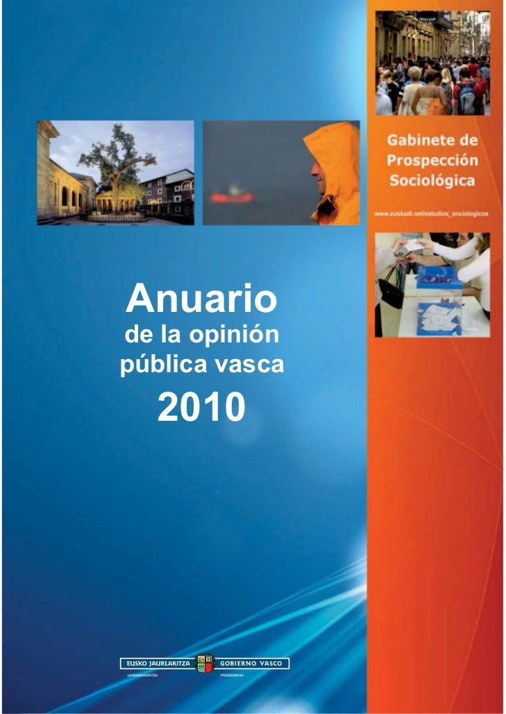 Anuariode la opiniónpública vasca  2010
