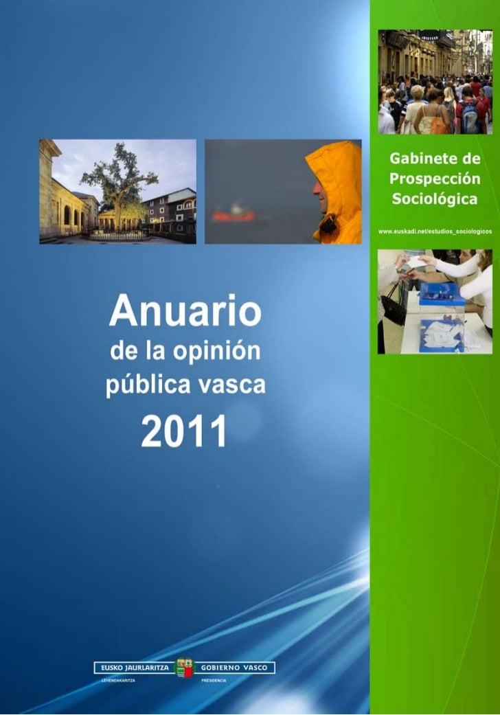 Anuariode la opiniónpública vasca  2011   Vitoria-Gasteiz, 2012
