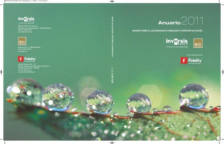 1                                            Cartas de presentación                       Anuario             2011ANUARIO ...